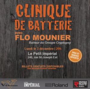 CLINIQUE DE BATTERIE AVEC FLO MOUNIER