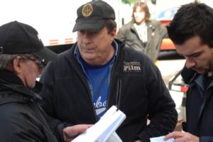 Jean-Pierre Bergeron en discussion avec le directeur de la photographie Pierre Mignot