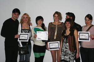Les commercants finalistes réunis lors de l'évènement