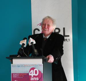 Jean-Paul L'allier, président d'honneur du 40e anniversaire de CKRL