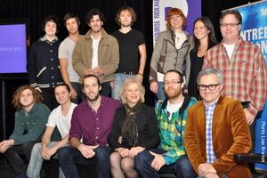 Quelques artistes de Rideau 2013 avec madame Colette Brouillé,directrice générale
