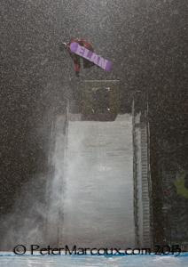 Michaël coté affronte le mur de neige