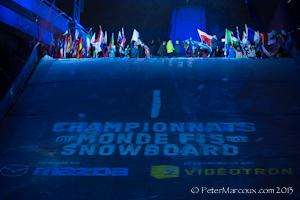 Cérémonie ouverture championnat du monde de surf des neiges