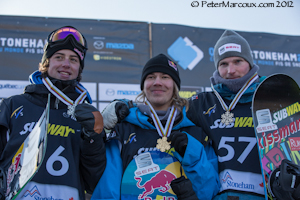 Mark McMorris,Roope Tonteri,Janne Korpie