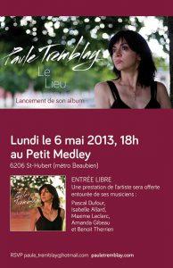 Le troisième album de Paule Tremblay