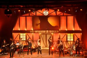 Le spectacle Cow-boys de Willie à Dolly