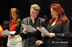 Noémie O'Farrel, Réjean Vallée et Marie-Josée Bastien