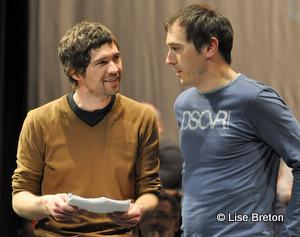 Maxime Denommée, metteur en scène et Steve Laplante