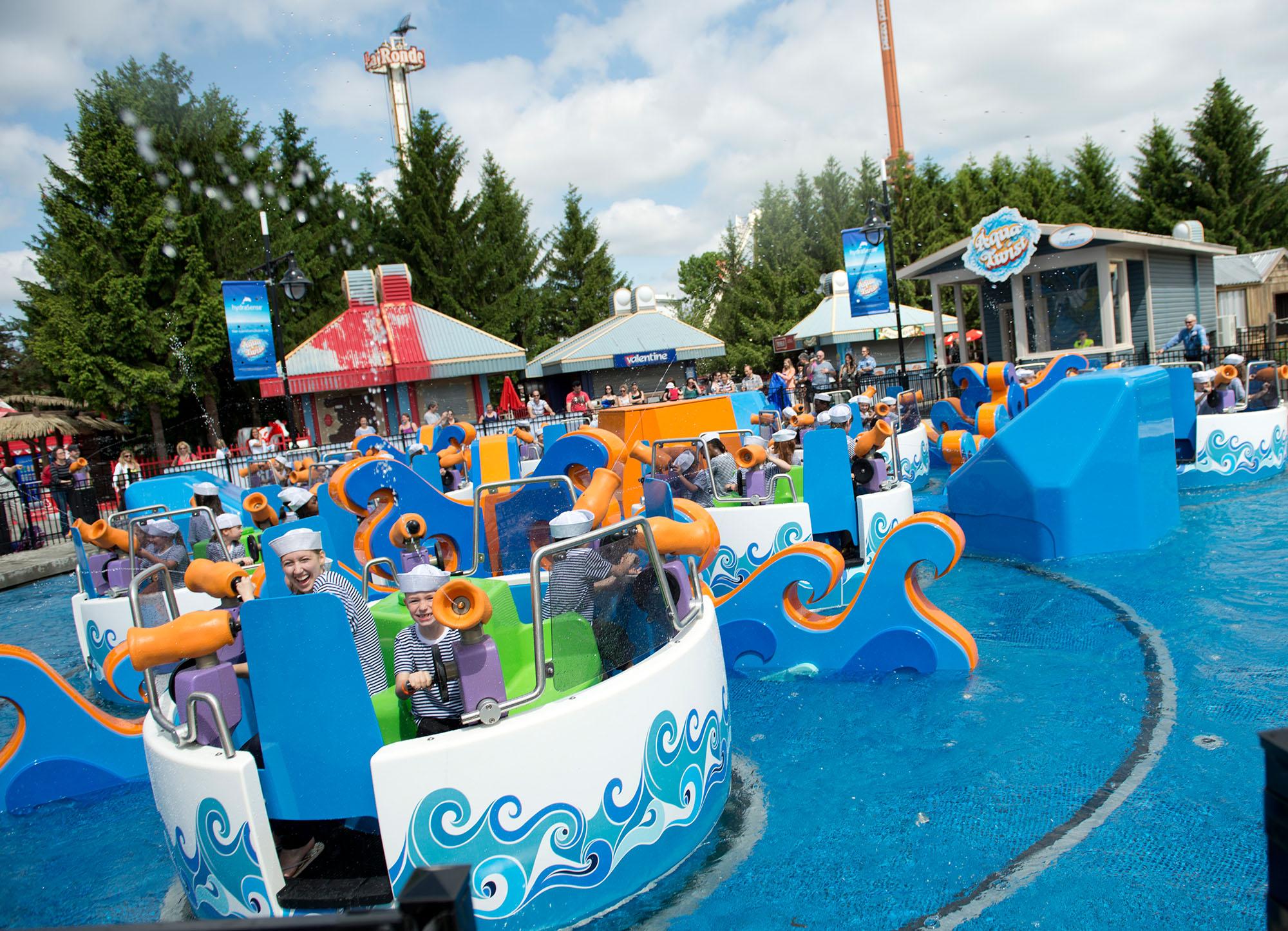 Aqua Twist, le nouveau manège aquatique et interactif de La Ronde