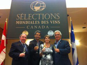 Ghislain K Laflamme, Président; Pierre Paul-Hus, Vice-président ; Brigitte Robinet, Directrice générale et Denys Paul-Hus de Sélection mondiale des vins