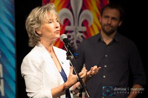 Judi Richard et Émile Proulx-Cloutier, porte-paroles de la Fête nationale du Québec 2013