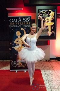 Catherine Michaud-Leclerc, une des interprètes du numéro d'ouverture 35 ans de danse !