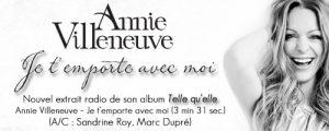 Annie Villeneuve : Je t'emporte avec moi