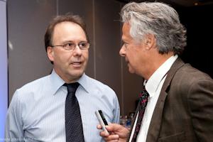 Me Marc Bellemare, président d'honneur et Marc Alarie chroniqueur