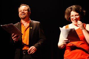 Marcelle Dubois et Geoffrey Gaquère, co-direteurs artistiques du 12e Festival du Jamais Lu