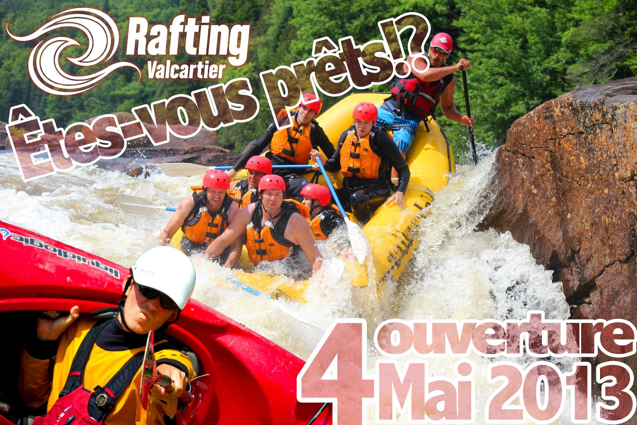 Rafting Valcartier entame sa saison 2013 sur la rivière Jacques-Cartier