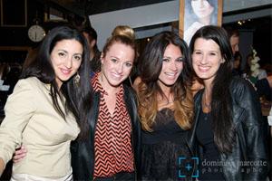 De gauche à droite, Lynda Thalie, Émily Bégin, Véronique Bannon et Stéphanie Bédard