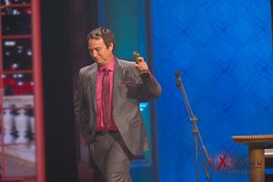 Pierre-François Legendre directeur artistique du gala a gagné le prix de la mise en scène pour le spectacle Comme du monde, des Denis Drolet
