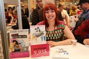 Annie Quintin au Salon du livre de Québec