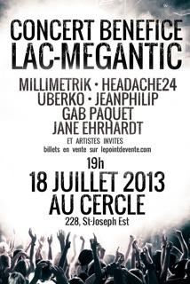Concert bénéfice au profit des sinistrés de Lac-Mégantic