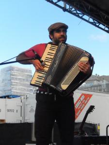 Dave Hamel à l'accordéon