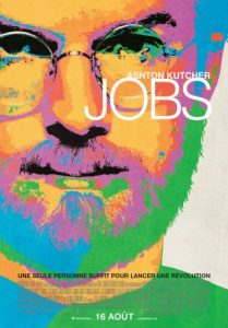 JOBS affiche du film, biographie romancée de Steve Jobs, fondateur d'Apple