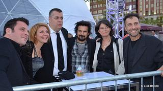 L'Équipe d'Amsterdam dont un des producteurs Antonello Cozzolino (à droite)