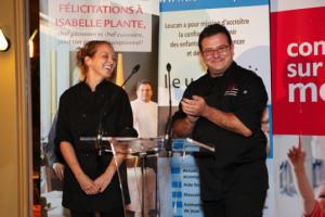: Isabelle Plante, chef-pâtissière et finaliste à l'émission Les Chefs ! et Joseph Sarrazin, chef-propriétaire du 47e Parallèl
