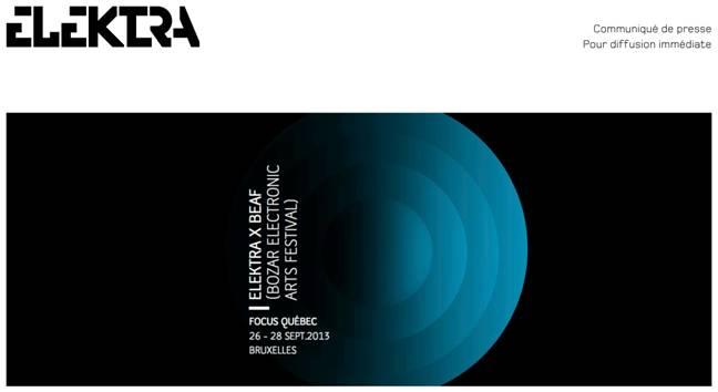 festival international d'arts numériques ELEKTRA