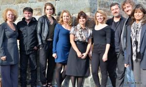Les comédiens d'Unité 9, Danielle Trottier,Jean-Philippe Duval  Fabienne Larouche