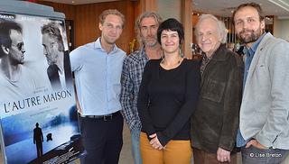 Mathieu Roy, Roy Dupuis, la productrice Félize Frappier, Marcel Sabourin et Émile Proulx-Cloutier