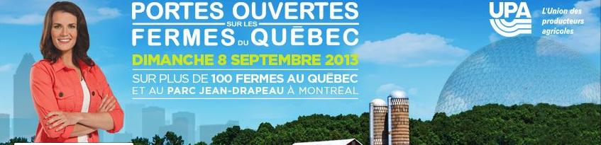 Journée Portes ouvertes sur les fermes du Québec