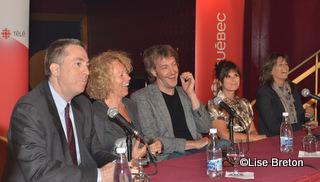 Jean-François Rioux,Danielle Trottier ,Jean-Philippe Duval,Guylaine Tremblay et Fabienne Larouche