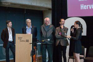 Hervé Courtain, Michel Tremblay, René Derouin, Louis-Pierre Bougie, Sophie Cadieux
