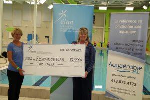 La Journée Internationale Aquatique rapporte 10 000$ à la Fondation Élan!