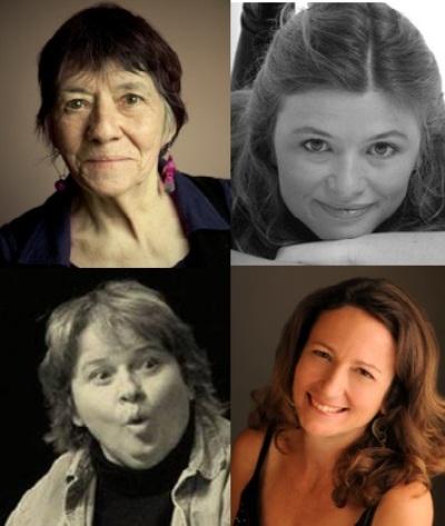 Les Filles du Roy: Stéphanie Bénéteau, Claudette L'Heureux, Céline Jantet et Lucie Bisson.