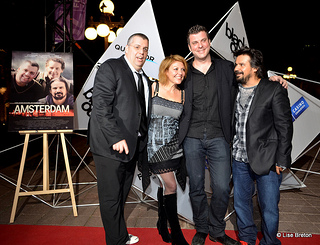 Louis Champagne, Marie-Chantal Perron, Stefan Miljevic le réalisateur ainsi que Robin Aubert au FCVQ