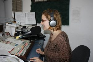Catherine Genest, animatrice de l'émission Voir Radio