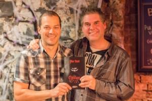 Tommy Demers et Pier Davi au lancement de Clavium