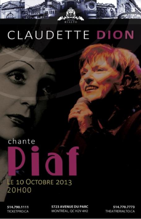 Claudette Dion chante Piaf