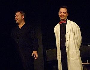 Monsieur Van Tricasse (Mireck Mételski) et Docteur Ox (Nathan Lelièvre)