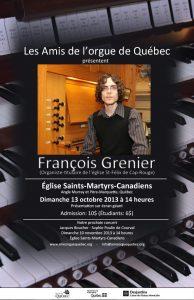 L'organiste François Grenier e