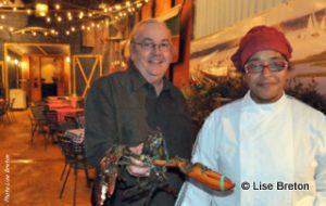 Christian Bernier propriétaire et Herminia de la Cruz Chef cuisinière