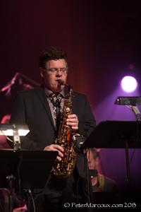 Rémi Bolduc, saxophoniste et directeur musical de la soirée