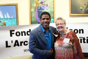 Le président d'honneur Ralph Leroy et la présidente de la Fondation Diane Mainville