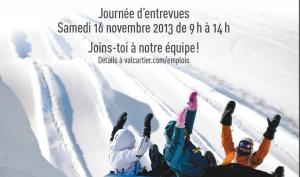 Journée d'entrevues au Village Vacances Valcartier