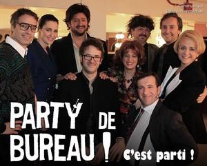 Party de bureau : Rémi-Pierre Paquin, Tammy Verge, Brigitte Lafleur, Roger Léger, Sophie Caron et David-Alexandre Després