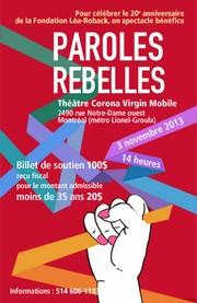 Paroles Rebelles