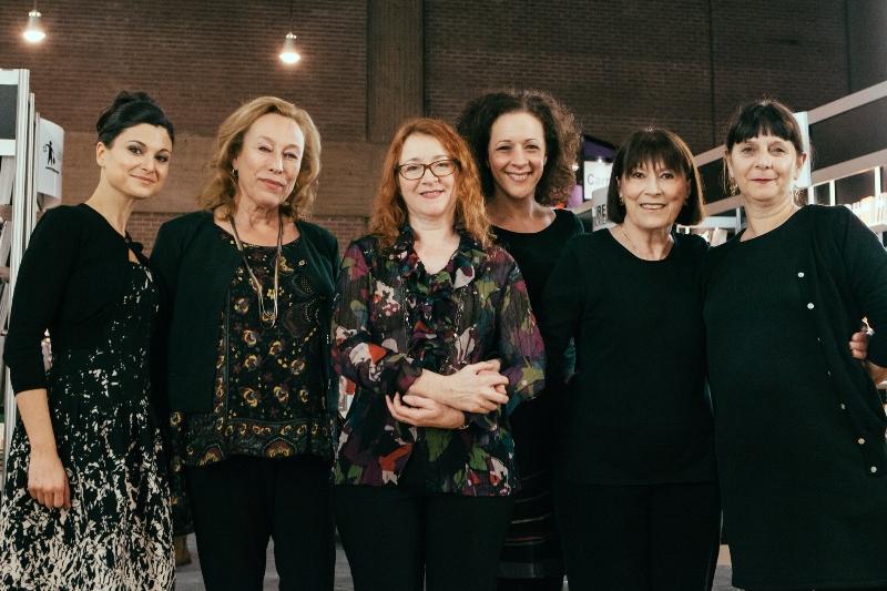 Émilie Bibeau, Marie Tifo, Lorraine Côté, Éva Daigle, Monique Miller et Lise Castonguay.