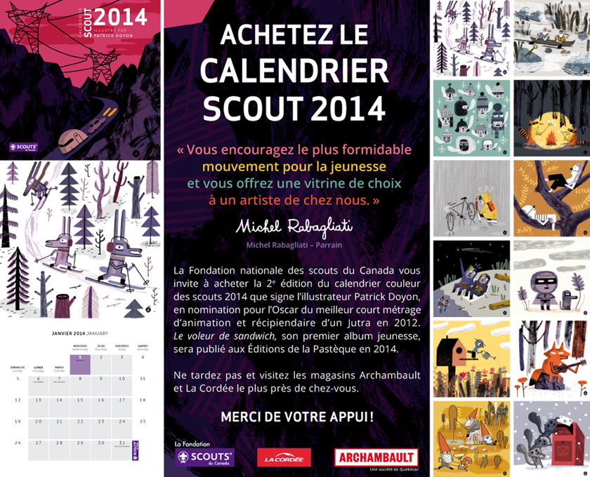 Le calendrier scout 2014